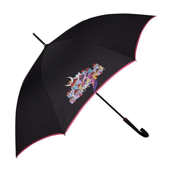 Picture of  Biggdesign Owl And City Black Umbrella