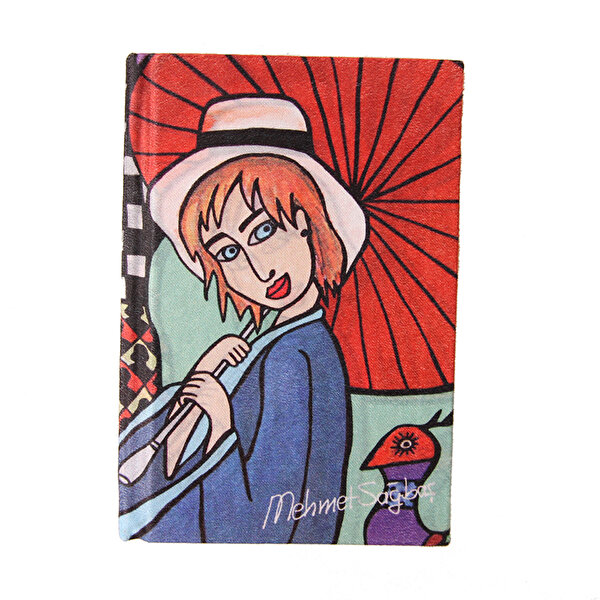 Picture of BiggDesign Girl with Umbrella, Notebook 9x14