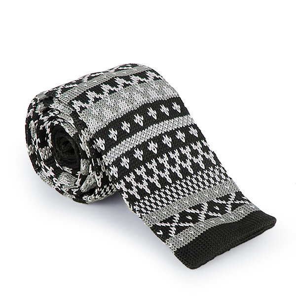 Picture of BIGGFASHION Black Textured Knitted Ties