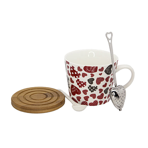Picture of BIGGMUG Heart Porcelain Cup Set