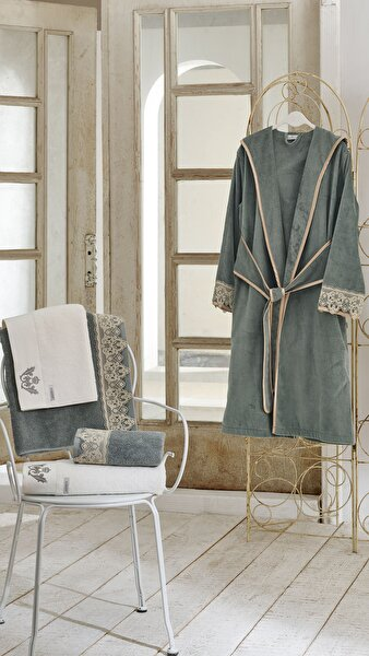 Picture of Ecocotton Azra Green Women Bathrobe Xlarge