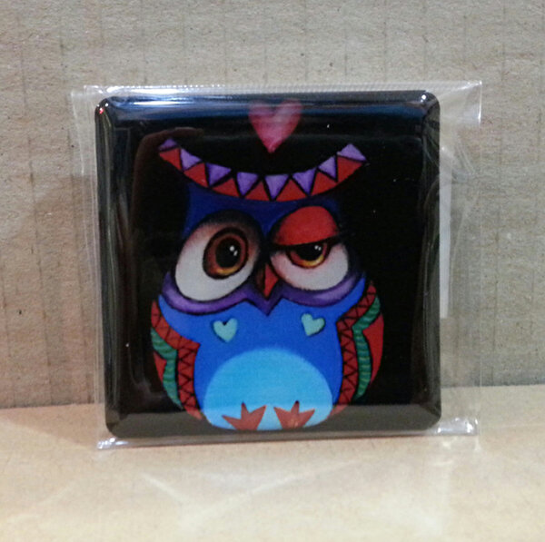 Picture of Monatitti Owl with Heart Magnet
