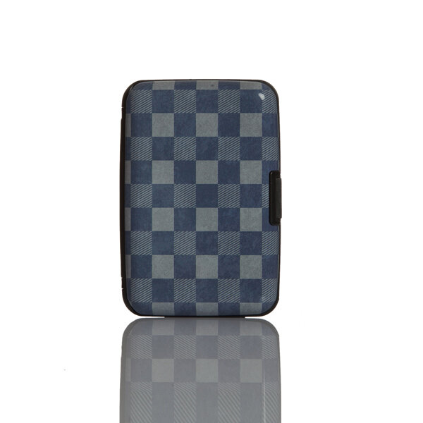 Picture of Nektar Bhac15 Black Checkered Business Card Holder