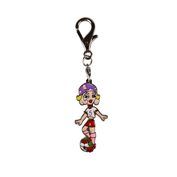 Picture of Nektar Hc049 Woman Soccer Metal Keychain