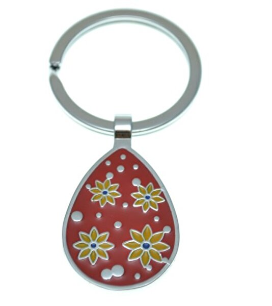 Picture of Nektar J03602 Flower Drop Keychain Red