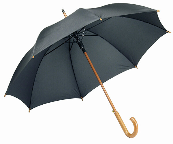 Picture of Pf Concept 19547952 Black Umbrella with Wood Handle