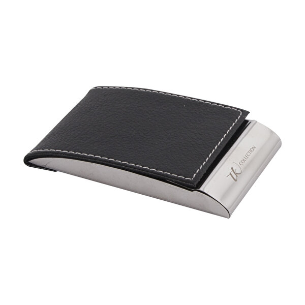 Picture of  TK Collection Black Leather Cardholder