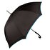 Picture of Biggbrella Blue Stripe Long Black Umbrella - Blue