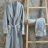 Picture of Ecocotton Verda Blue Women Bathrobe Large, 100% Organic Turkish Cotton