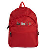 Biggdesign Cats in İstanbul Red Backpack