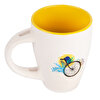 Biggdesign Nature Yellow Ceramic Mug with Spoon