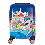 Resim   BiggDesign Owl And City Valiz 20""