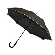Picture of Biggbrella Blue Stripe Black Long Umbrella
