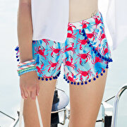 Picture of BiggDesignAnemoSS Crab Women's Shorts