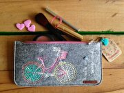 Picture of BiggDesign Felt Bicycles Zipper Small Bag