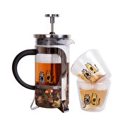 Resim   Biggdesign Cats French Press & Double Wall Bardak Seti