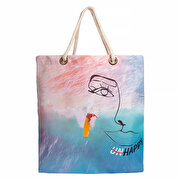Picture of Biggdesign Faces UnHappy Beach Bag