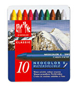 Picture of             Caran d'Ache Neocolor Metal Box 10 Pieces