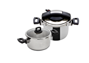 Picture of Hisar Neptün Pressure Cooker Set 4 + 7 Black