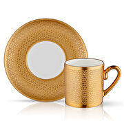 Picture of Collection Eva Turkish Coffee Set 6 Serpentine Gold
