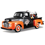 Picture of  Masito 1/27 1948 Ford F-1 Pickup + 1958 Flh Duo Glide Model Araba