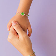 Picture of Milk & Moo Caca Frog Mother&Daughter Silver Bracelet