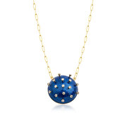 Picture of Tash Design Stars Enamel Long Chain Necklace