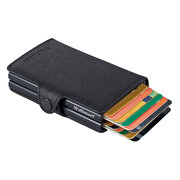 Picture of WalSmart Twin Safiano Leather Wallet with Smart Mechanism WTS01 Black