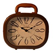 Picture of  XOOM Retro Suitcase Table Clock Brown