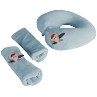 Picture of Babyjem Travel Set, Neck Pillow and Seatbelt Pads,  Blue