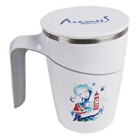 Picture of BiggDesign AnemosS The Girl with Lighthouse Patterned Suction Mug - White - 470 ml