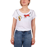 Picture of Biggdesign Acrobat Cats T-shirt-Small Size