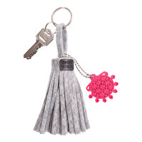 "Picture of BiggDesign ""BC 3000"" Sun Disk Felt Tassel Keychain"