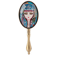 Picture of Biggdesign Authentic Female Patterned Decorative Hand Mirror