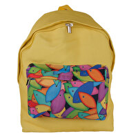 "Picture of BiggDesign ""Fertility Fish"" Yellow Backpack"