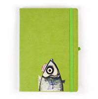 Picture of Biggdesign Thermo Leather Pistachio Notebook 14x22, Special design by Turkish artist