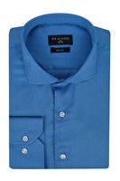 Picture of DS Damat Slim Fit Dark Blue Men's Shirt Large Size