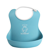 Picture of  BabyBjörn Soft Plastic Feeding Apron / Turquoise