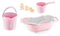 Picture of Babyjem Baby Bath Set 5 Pieces Pink