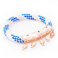 Picture of BiggDesign AnemosS Fish Detailed Rope Bracelet - Blue
