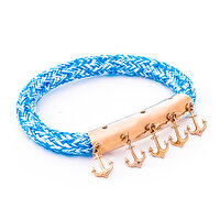 Picture of BiggDesign AnemosS Anchor Detailed Rope Bracelet - Blue