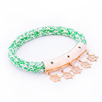 Picture of BiggDesign AnemosS Sailor's Rudder Detailed Rope Bracelet - Green