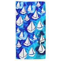 Picture of BiggDesign AnemosS Pupa Patterned Round Beach Towel - White