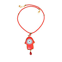Picture of BiggDesign Evil Eye Hamsa Red Necklace