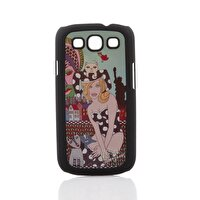 Picture of Biggdesign Galaxy S3 Black Cover Cat Girl