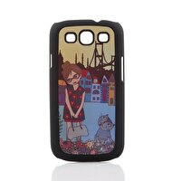 Picture of Biggdesign Galaxy S3 Black Cover Floral Girl