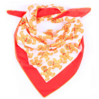 Picture of BiggDesign Gingerbread Patterned Scarf