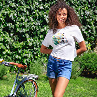 Picture of BiggDesign Nature Bicycle İn Bosphorus Women Tshirt