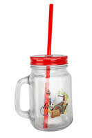 Picture of   Biggdesign Nature Red Lemonade Jar Mug With Handle by Aysu Bekar