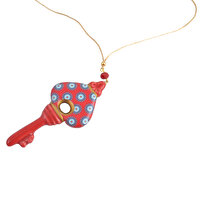 Picture of BiggDesign Evil Eye Key Necklace - Red